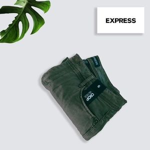 Express Olive Green mid-rise pants
